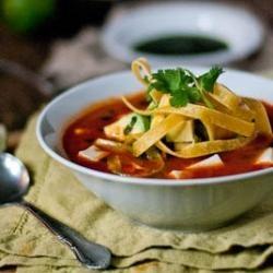 tortilla soup sopa azteca recipe sbs food tortilla soup sopa azteca ...