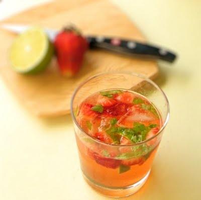 strawberry basil mojito...it will be prime strawberry season, possible ...