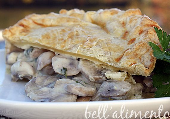 Savory Mushroom Pie (use gluten free pie crust; sub a mix of soy and ...
