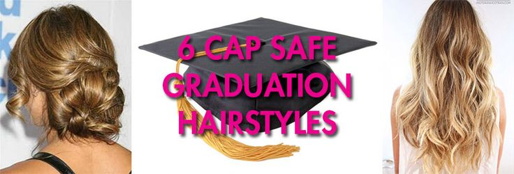 Hairstyles For Long Hair With Hats : Cap Safe Graduation Hairstyles Hair Galore Pinterest