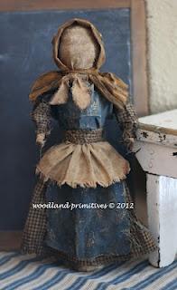 Martha's make-do doll...a Woodland Primitives design