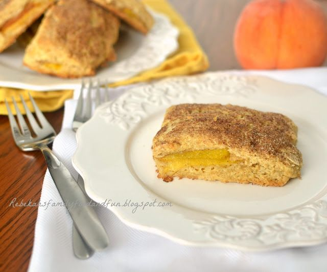 Family, Food, and Fun: Peach Cobbler Scones