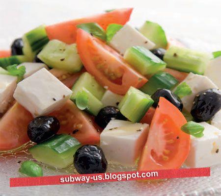 greek tomato and feta salad recipe | Recipes | Pinterest