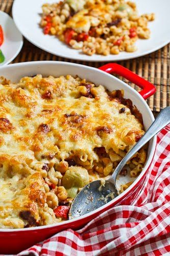 Goat Cheese, Roasted Red Pepper and Kalamata Olive Mac n Cheese | Rec ...