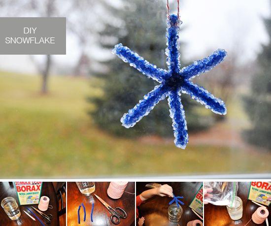 DIY Borax Snowflake
