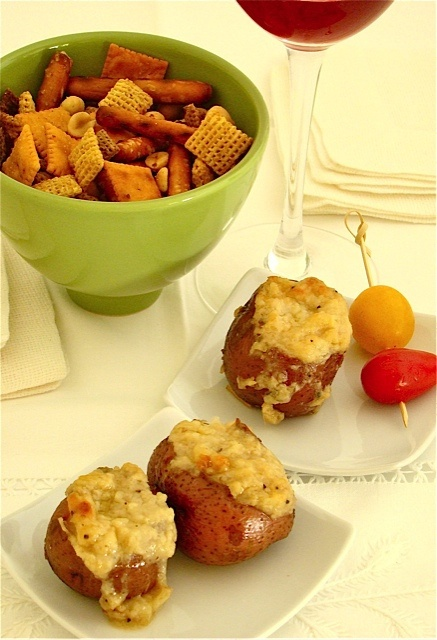 Stuffed Baby Red Potatoes | Delicious | Pinterest