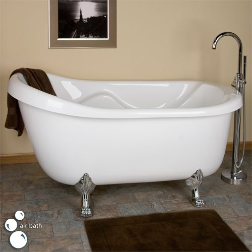 67 anelle acrylic clawfoot slipper air bath tub but with bronze feet