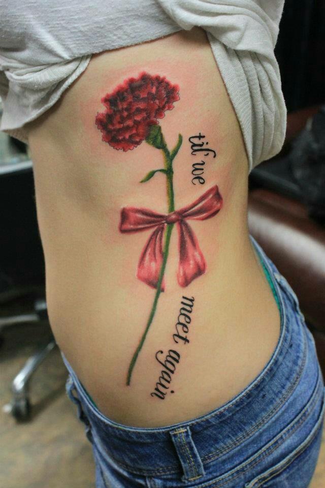 till we meet again flower tattoos pinterest