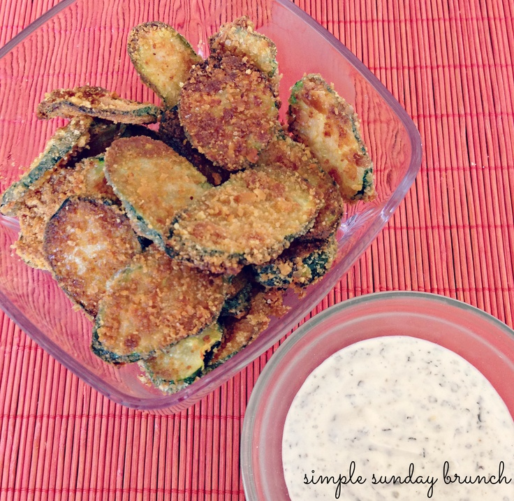 Zucchini Chips | Simple Sunday Brunch | drink champagne | Pinterest