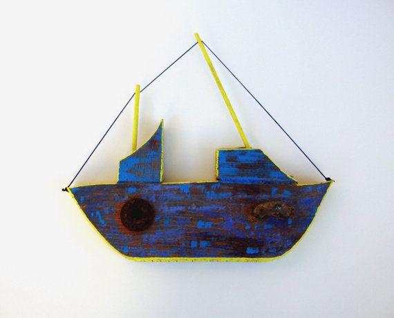 Wood Sailboat Wall Decor : Decorative wooden wall hanging boat home decor nautical