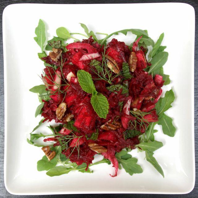 ... : Apple, Beet & Fennel Salad with Balsamic Maple Dijon Vinaigrette