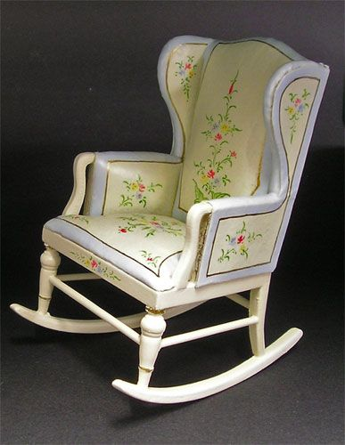 Carved Nursery Rocking chair  Dollhouse Delivery!  Pinterest