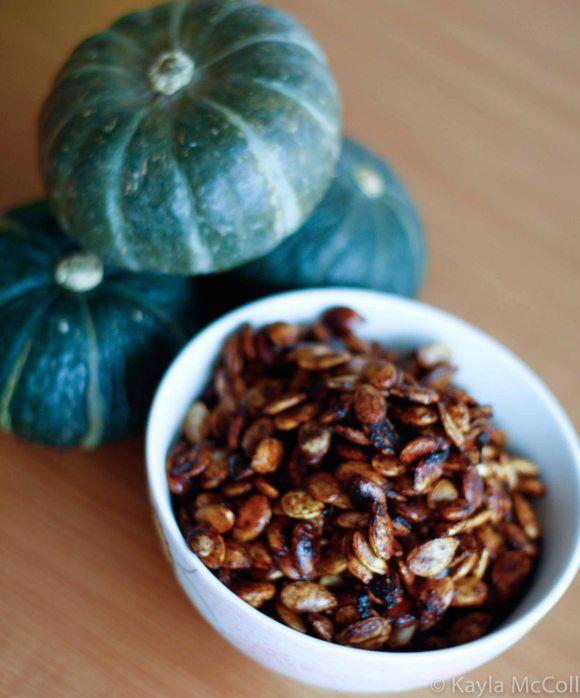 roasted pumpkin seeds - cinnamon, salt, chili powder, sugar, coconut ...