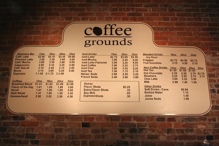 Coffee Shop Menu Board Ideas