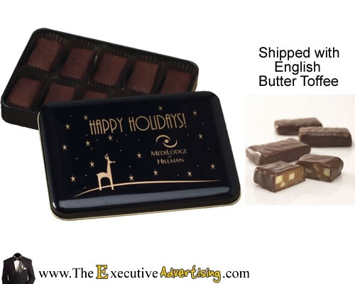 Holiday Gifts Promotional Food: English Butter Toffee Tins