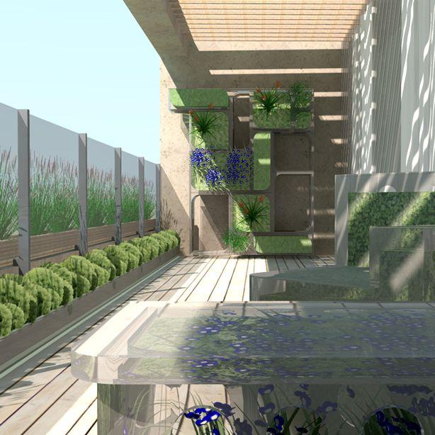 Balcony garden ideas vertical farm food factory for Balcony plants