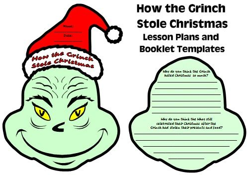 Fun activity for How the Grinch Stole Christmas: Students create a ...