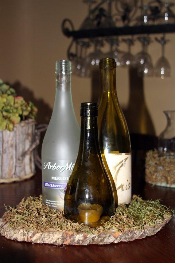 Wine Bottle Centerpiece Work Pinterest