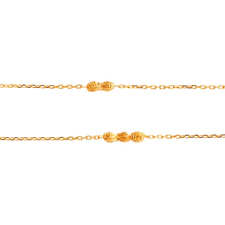 Bracelet Papaye double, vermeil jaune | M O N S I E U R | Pinterest