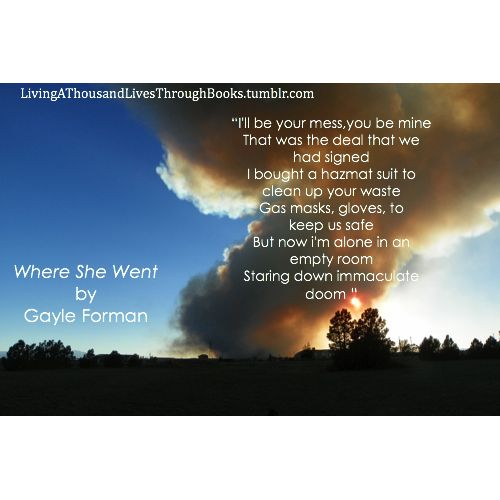 Where she went by gayle forman words are my jewels pinterest