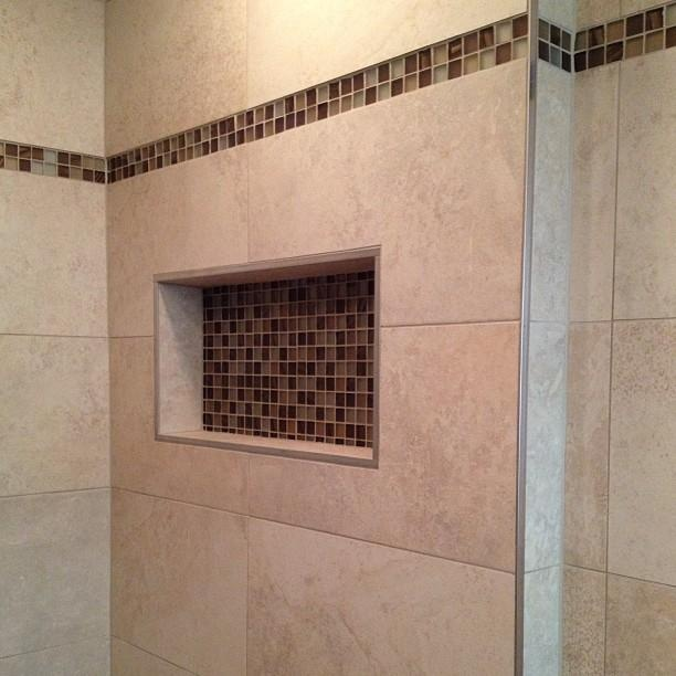 Pin by ceramictec tampa tile contractor on our tile work for 12x24 bathroom tile ideas
