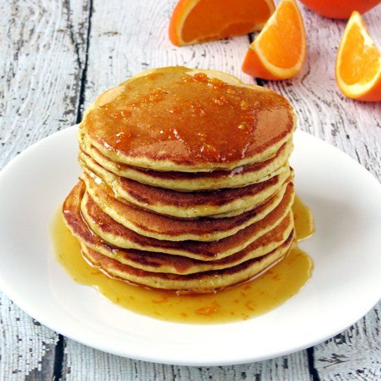 These Orange Ricotta Pancakes are fluffy and full of flavor with a ...