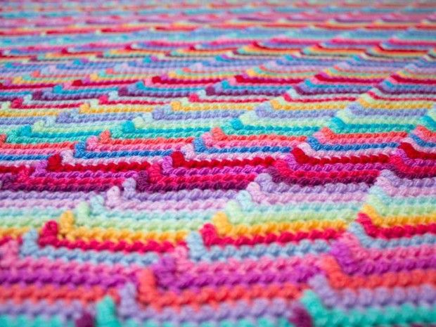 Crochet Patterns Using I Love This Yarn : Love this ripply effect. Im thinking an ocean inspire blanket or ...