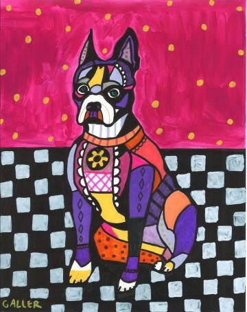 Dog Art  Boston Terrier ART  Print Art Poster by HeatherGallerArt, $24.00