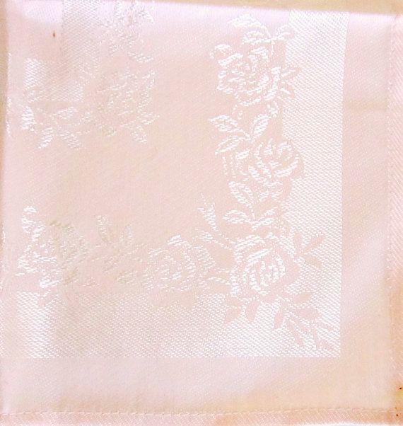 Vintage pink damask napkins set of 4 cloth by nanascottagehouse 19