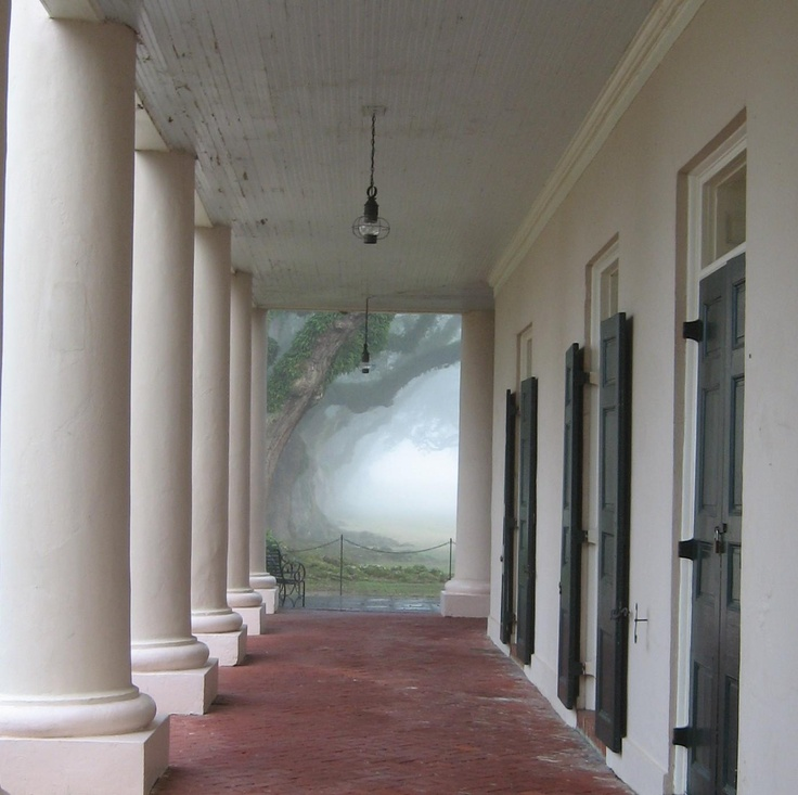 Early morning, Oak Alley plantation
