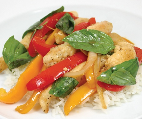 Chicken and Basil Stir Fry | Food Love | Pinterest