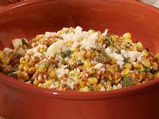 Grilled corn salad, with lime, chili powder and cotija cheese ...