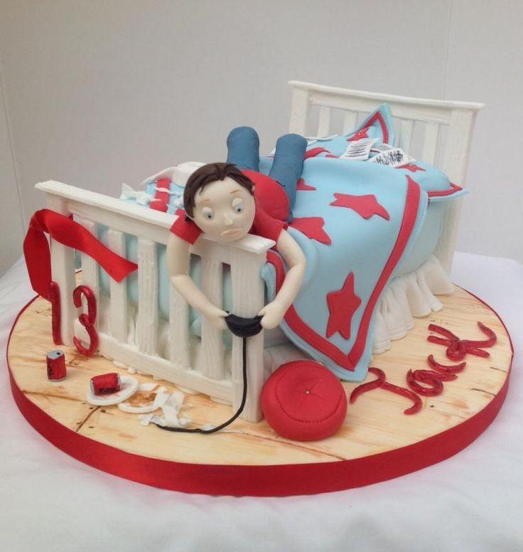 Teenage boy cake cumplea 241 os de varon pinterest