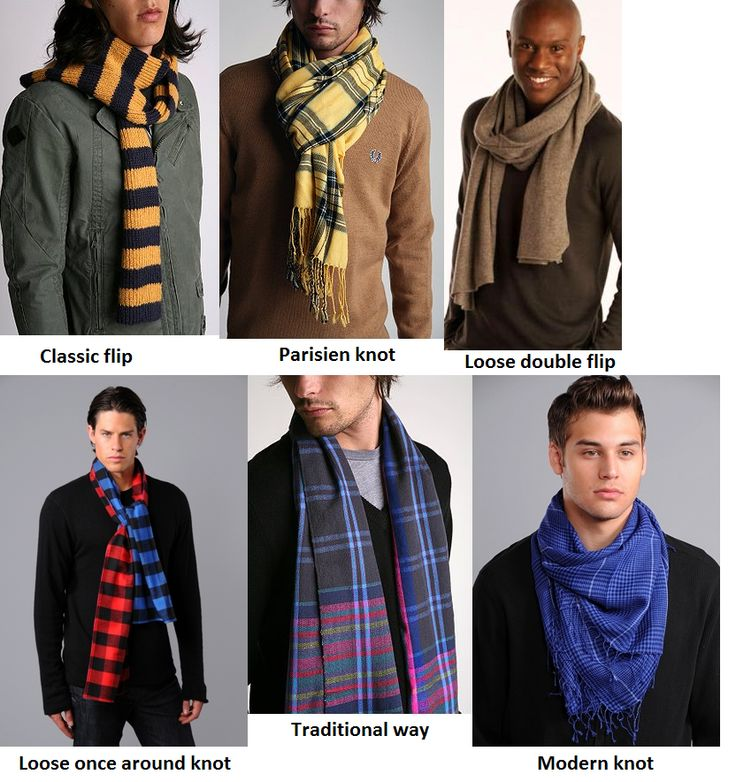 How to wear a neck scarf male