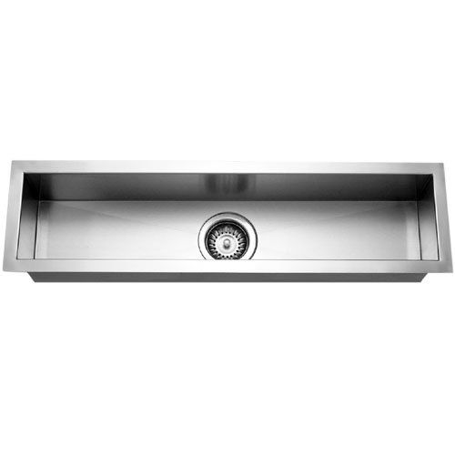 Trough Bar Sink : Houzer CTB-3285 Contempo Trough Bar/ Prep Bowl Bar Sink, Lustrous ...