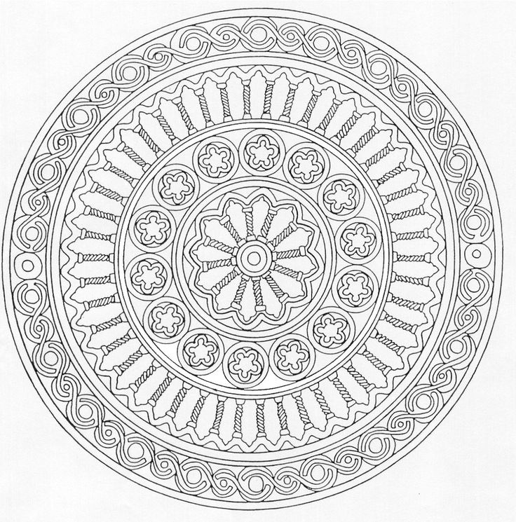 sacred mandala coloring pages - photo#36