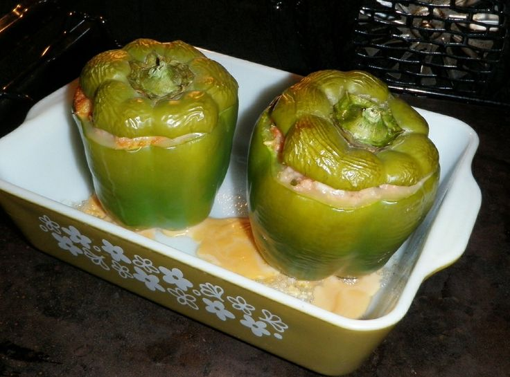 Sherry's Mom's Stuffed Bell Peppers | Un-Chicken Main Dishes | Pinter...