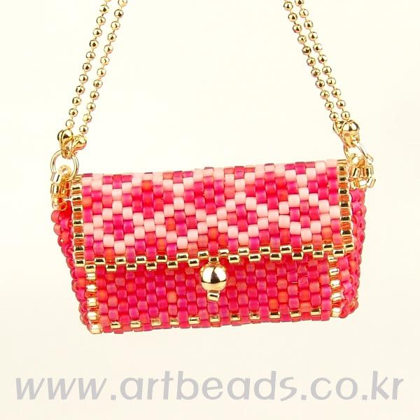 Red beaded tiny purse tutorial