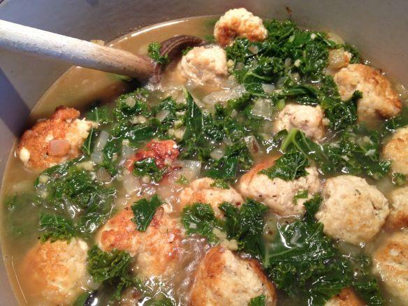 Blissful turkey meatball Italian wedding soup from Subee's Kitchen!