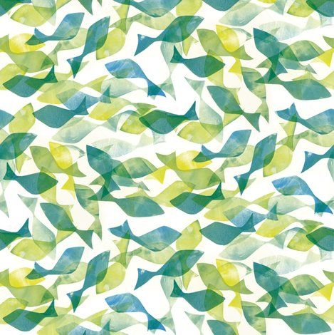 Fish pattern for a sea themed material graphic design for Fishing themed fabric