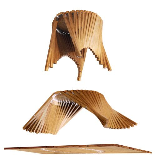The Rising Side Table brilliantly designed by Robert van Embricqs