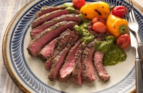 Weber.com - Argentinian Skirt Steaks with Chimichurri