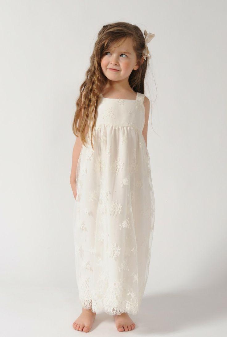 robe longue bretelles fillette wedding pinterest With robe longue fillette