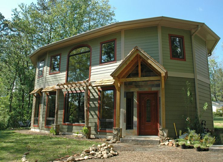 This Passive Solar Home With Timber Frame Entry Is A