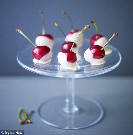 Recipe: White chocolate-dipped cherries