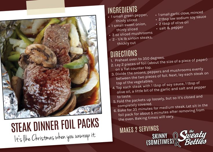 Steak dinner foil pack #paleo recipe