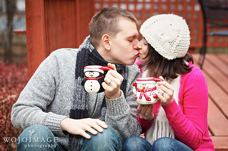 Husband and Wife Christmas Card Photo Idea - would look great with a PMall Mug!