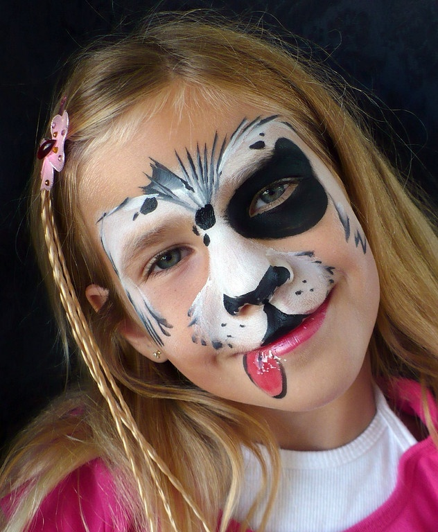 Simple Dog Face Paint For Adults