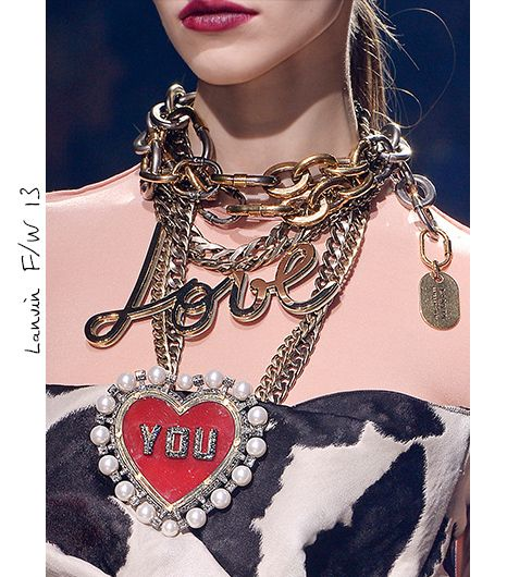 Lanvin necklaces.