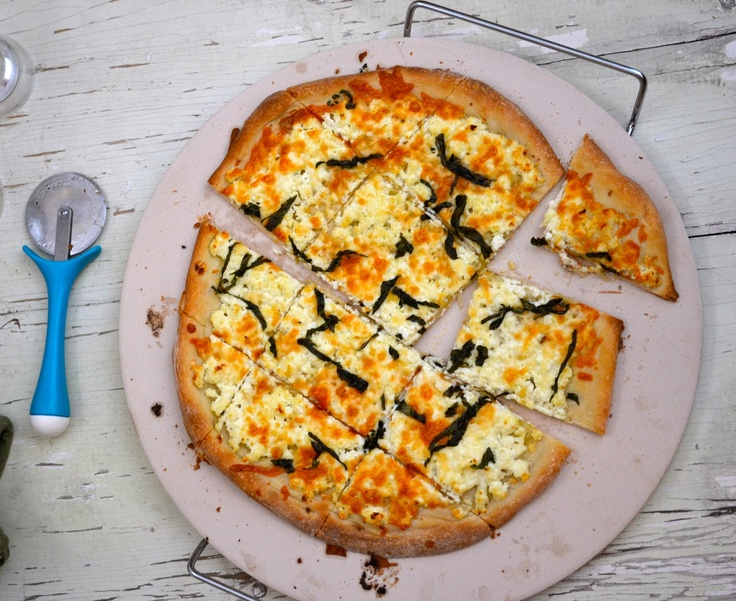 White Four Cheese Pizza with Garlic and Basil | Check! (Projects ...